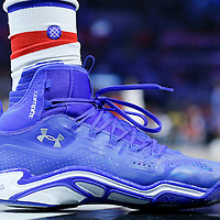 21 December 2015: Close view of Los Angeles Clippers forward Wesley Johnson (33) Under Armour shoes and Stance sock during the Oklahoma City Thunder 100-99 victory over the Los Angeles Clippers, at the Staples Center, Los Angeles, California, USA.