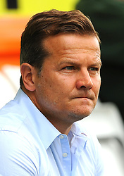 Forest Green Rovers manager Mark Cooper looks on - Mandatory by-line: Nizaam Jones/JMP - 09/09/2017 - FOOTBALL - New Lawn Stadium - Nailsworth, England - Forest Green Rovers v Exeter City - Sky Bet League Two