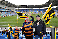 Wasps' supporters show their excitement at the move to the Ricoh Arena and the match ahead - Photo mandatory by-line: Patrick Khachfe/JMP - Mobile: 07966 386802 21/12/2014 - SPORT - RUGBY UNION - Coventry - Ricoh Arena - Wasps v London Irish - Aviva Premiership