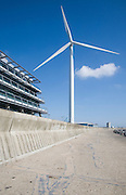 Large wind turbine known as Gulliver by Orbis energy centre, Lowestoft, Suffolk, England