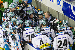 Rob Daum, head coach of EHC Liwest Linz, during ice-hockey match between HDD Tilia Olimpija and EHC Liwest Black Wings Linz at second match in Semifinal  of EBEL league, on March 8, 2012 at Hala Tivoli, Ljubljana, Slovenia. (Photo By Matic Klansek Velej / Sportida)