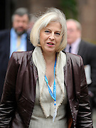 © Licensed to London News Pictures. 03/10/2011. MANCHESTER. UK. Theresa May, Home Secretary, at The Conservative Party Conference at Manchester Central today, October 3, 2011. Photo credit:  Stephen Simpson/LNP
