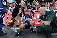 Sykkel<br /> 05.07.2014<br /> Tour de France<br /> Foto: PhotoNews/Digitalsport<br /> NORWAY ONLY<br /> <br /> CAVENDISH Mark (GBR - Omega Pharma - Quick-Step cycling team) is injured after a crash during stage 1 of the 101th edition of the Tour de France 2014 from Leeds to Harrogate (190 kms)