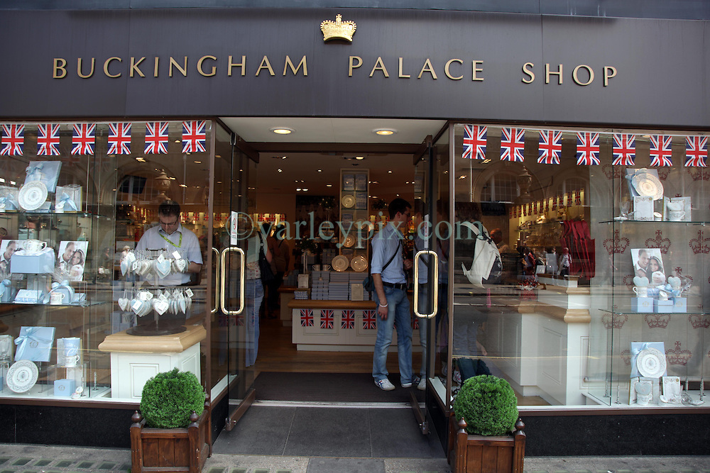 21 April 2011. London, England..The official Buckingham Palace shop filled with royal memorabilia in the run up to Catherine Middleton's marriage to Prince William..Photo; Charlie Varley.