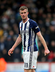 "West Bromwich Albion's Chris Brunt during the Premier League match at the Vitality Stadium, Bournemouth. PRESS ASSOCIATION Photo. Picture date: Saturday March 17, 2018. See PA story SOCCER Bournemouth. Photo credit should read: Mark Kerton/PA Wire. RESTRICTIONS: EDITORIAL USE ONLY No use with unauthorised audio, video, data, fixture lists, club/league logos or ""live"" services. Online in-match use limited to 75 images, no video emulation. No use in betting, games or single club/league/player publications."