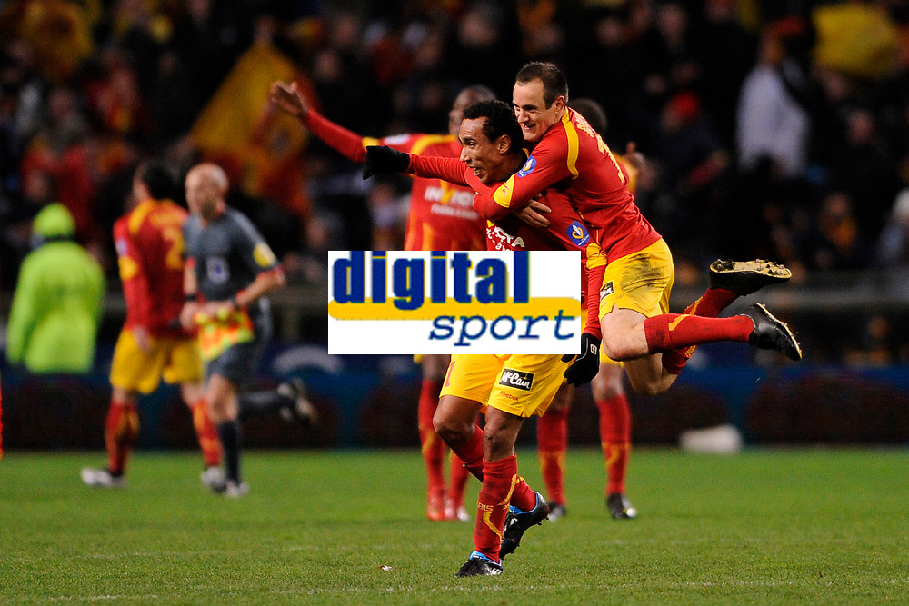 FOOTBALL - FRENCH CHAMPIONSHIP 2009/2010  - L1 - RC LENS v OLYMPIQUE MARSEILLE - 28/11/2009 - PHOTO JULIEN CROSNIER / DPPI - JOY EDUARDO (LEN)