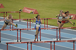 October 11, 2018 - Buenos Aires, Buenos Aires, Argentina - TING-WEI LIN of Chinese Taipei leads the Women's 100m Hurdles (76.2cm) Stage 1 - Heat 2 in which she came first on Day 5 of the Buenos Aires 2018 Youth Olympic Games at the Olympic Park. (Credit Image: © Patricio Murphy/ZUMA Wire)