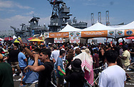 People enjoy the lobsters at the 19th Annual Port of Los Angeles Lobster Festival in San Pedro, California, Sunday, July 16, 2017. (Photo by Ringo Chiu)<br /> <br /> Usage Notes: This content is intended for editorial use only. For other uses, additional clearances may be required.