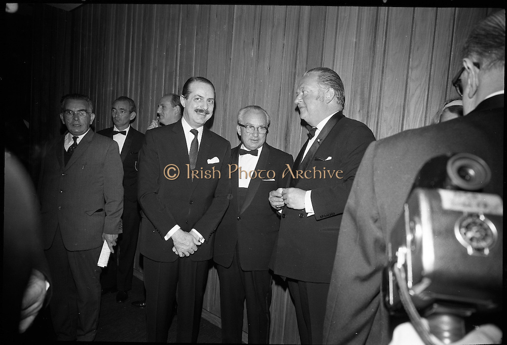 Opening of the new Abbey Theatre, designed by Michael Scott. Lord Killalin..18.07.1966