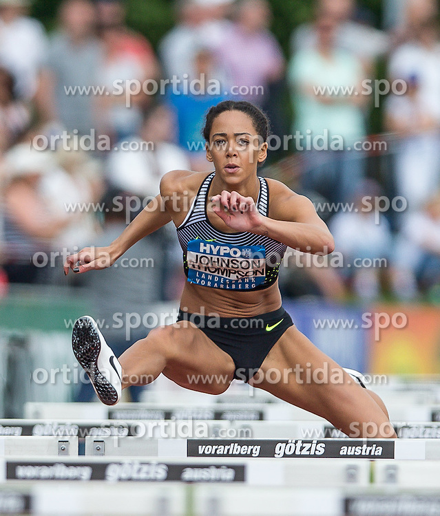 28.05.2016, Moeslestadion, Goetzis, AUT, 42. Hypo Meeting Goetzis 2016, Siebenkampf der Frauen, 100 Meter Huerden, im Bild Katerina Johnson Thompson, (GBR) // Katerina Johnson Thompson of United Kingdom during the 100 metres hurdles event of the Heptathlon competition at the 42th Hypo Meeting at the Moeslestadion in Goetzis, Austria on 2016/05/28. EXPA Pictures © 2016, PhotoCredit: EXPA/ Peter Rinderer