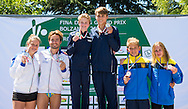 Podium<br /> Bolzano, Italy <br /> 22nd FINA Diving Grand Prix 2016 Trofeo Unipol<br /> Diving<br /> MIXED 10m synchronised platform final <br /> Day 03 17-07-2016<br /> Photo Giorgio Perottino/Deepbluemedia/Insidefoto
