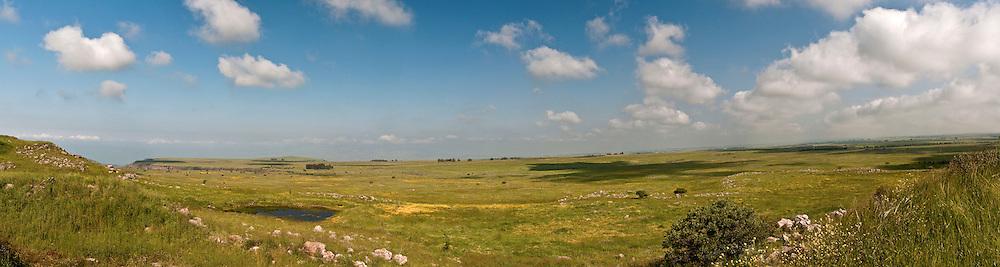 Israel, Golan Heights, Gamla, Panoramic view April 2009