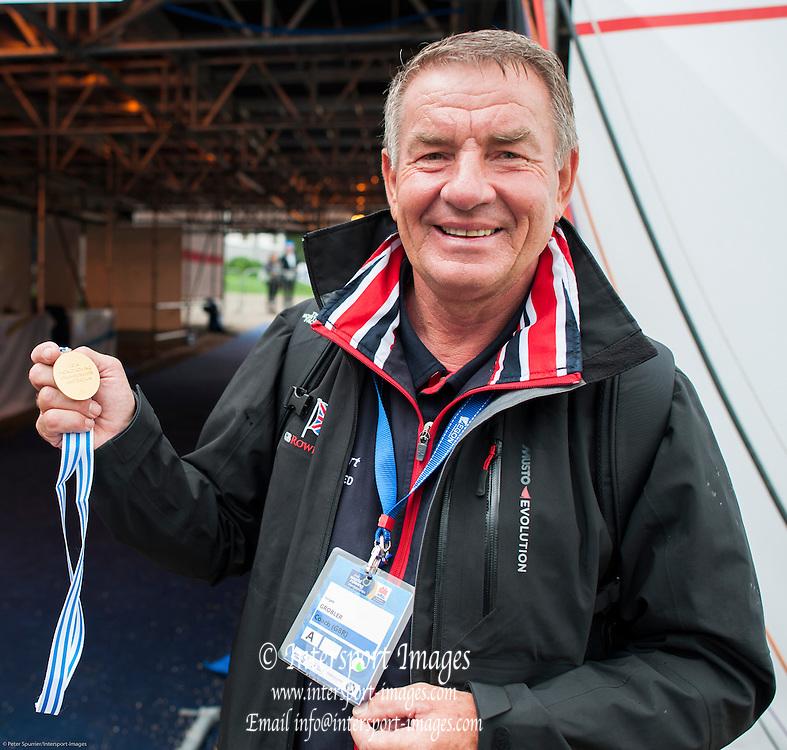Amsterdam. NETHERLANDS. GBR M8+. Coach, Jurgan GROBLER. 2014 FISA  World Rowing. Championships. 14:40:58  Sunday  31/08/2014  [Mandatory Credit; Peter Spurrier/Intersport-images]