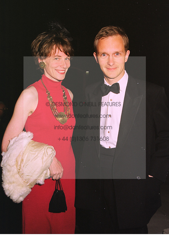 Milliner MISS KATHARINE GOODISON and DR SIMON THURLEY Director of the Museum of London, at a dinner in London on 22nd September 1998. MKE 17