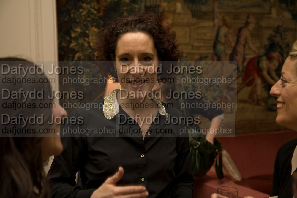 Rachel Withers, Dinner at the Italian Embassy in which the winner of the MaxMara Art Prize ( in collaboration with the Whitechapel art gallery )for Women is announced. Grosvenor Sq. London. 29 January 2008.  -DO NOT ARCHIVE-© Copyright Photograph by Dafydd Jones. 248 Clapham Rd. London SW9 0PZ. Tel 0207 820 0771. www.dafjones.com.