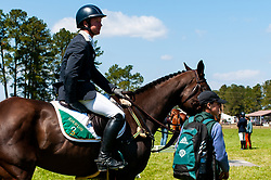 March 22, 2019 - Raeford, North Carolina, US - March 22, 2019 - Raeford, N.C., USA - TIM BOURKE of Ireland riding QUALITY TIME waits to enter the arena in the show jumping CCI-4S division at the sixth annual Cloud 11-Gavilan North LLC Carolina International CCI and Horse Trial, at Carolina Horse Park. The Carolina International CCI and Horse Trial is one of North AmericaÃ•s premier eventing competitions for national and international eventing combinations, hosting International competition at the CCI2*-S through CCI4*-S levels and National levels of Training through Advanced. (Credit Image: © Timothy L. Hale/ZUMA Wire)