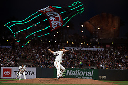 SAN FRANCISCO, CA - AUGUST 13: Madison Bumgarner #40 of the San Francisco Giants pitches against the Oakland Athletics during the seventh inning at Oracle Park on August 13, 2019 in San Francisco, California. The San Francisco Giants defeated the Oakland Athletics 3-2. (Photo by Jason O. Watson/Getty Images) *** Local Caption *** Madison Bumgarner