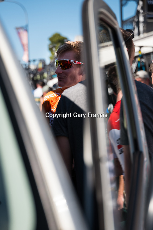 Andre Grepiel at the start of Stage 2, Unley to Stirling, of the Tour Down Under, Australia on the 17 of January 2018 ( Credit Image: © Gary Francis / ZUMA WIRE SERVICE )
