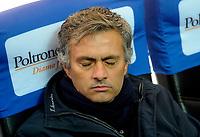 Josè Mourinho<br /> Inter-Roma 1-1<br /> Campionato di calcio serie A 2009/2010<br /> Milano, 08.11.2009<br /> Foto Paolo Bona Insidefoto