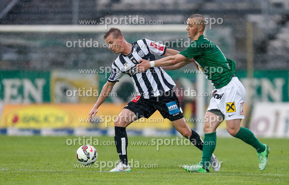 01.05.2015, Reichshofstadion, Lustenau, AUT, 2. FBL, SC Austria Lustenau vs LASK Linz 31. Runde, im Bild Thomas Hinum, (LASK Linz, #18) und Adnan Secerovic, (SC Austria Lustenau #06)// during Austrian Second Bundesliga Football Match, 31th round, between SC Austria Lustenau vs LASK Linz at the Reichshofstadion, Lustenau, Austria on 2015/05/01. EXPA Pictures © 2015, PhotoCredit: EXPA/ Peter Rinderer