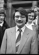 TDs arrive for the opening session of the 23rd Dáil...9-03-82.03-09-1982.9th March 1982..Pictured At Leinster House. ..Limerick City Fianna Fáil TD Willie O'Dea