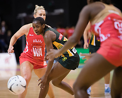 South Africas Precious Mthembu, centre, watches the ball against England in the Netball Quad Series netball match, ILT Stadium Southland, Invercargill, New Zealand, Sept. 3 2017.  Credit:SNPA / Adam Binns ** NO ARCHIVING**