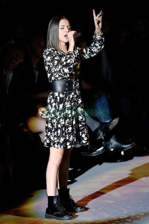 September 28, 2016 - Paris, France - Marina KAYE chante pendant le defile Etam Live Show 100ans - 27 septembre 2016 - Centre Georges Pompidou - Paris - France (Credit Image: © Visual via ZUMA Press)