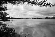 Heavy clouds blanket Seney National Wildlife Refuge in this black and white image from late-August, 2009.