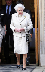 The Queen leaving The London Clinic after visiting  her husband the Duke of Edinburgh who spent his 92nd birthday in hospital in London, Monday, 10th June 2013<br /> Picture by Stephen Lock / i-Images