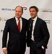 Prince's Albert II of Monaco (L) and Prince Emanuele Filiberto di Savoia (R) pose during the opening ceremony of the 54st Monte-Carlo Television Festival on June 7, 2014 in Monaco.