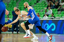 Miha Lapornik of Petrol Olimpija vs Mirza Sarajlija of Rogaska during basketball match between KK Petrol Olimpija and KK Rogaska in Round #5 of Liga Nova KBM za prvaka 2018/19, on March 31, 2019, in Arena Stozice, Ljubljana, Slovenia. Photo by Vid Ponikvar / Sportida