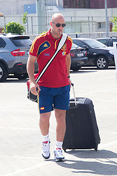 01.06.2012. Arrival of the players in the Spanish football team squad for the European Championship in Poland and Ukraine to the Ciudad del Futbol of Las Rozas, Madrid. In the image Pepe Reina // during Arrival of Spanish National Footballteam // after UEFA EURO 2012 preparation camp in Schruns, Austria at Ciudad del Futbol, Madrid, Spain on 2012/06/01. EXPA Pictures © 2012, PhotoCredit: EXPA/ Alterphotos/ Marta Gonzalez..***** ATTENTION - OUT OF ESP and SUI *****
