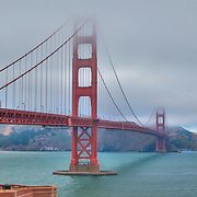Golden Gate Bridge - Fort Point Bluff - HDR