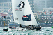 Emirates Team New Zealand, Race day two of the Land Rover Extreme Sailing Series regatta in Qingdao, China. 2/5/2014
