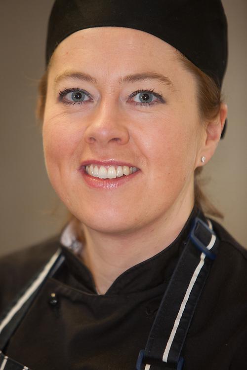 Emma Carlton making sticky toffee pudding for Waitrose.