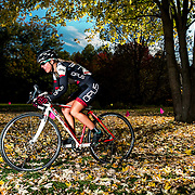 Andréanne Pichette of Opus/OGC the winner of the Women's Elite/Pro Category at the Serie de cyclocross Ekoi #5 in St-Chares-de-Borromée on October,  6 2013