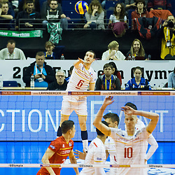 06.01.2016, Max Schmeling Halle, Berlin, GER, CEV Olympia Qualifikation, Frankreich vs Russland, im Bild Benjamin Toniutti (#6, Frankreich) // 2016 CEV Volleyball European Olympic Qualification Match between France and Russia at the Max Schmeling Halle in Berlin, Germany on 2016/01/06. EXPA Pictures © 2016, PhotoCredit: EXPA/ Eibner-Pressefoto/ Wuechner<br /> <br /> *****ATTENTION - OUT of GER*****