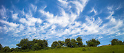 Cirrus clouds in blue sky