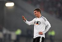 Fussball           EM Qualifikation        17.11.07 Deutschland - Zypern Lukas PODOLSKI (GER) gestikuliert.