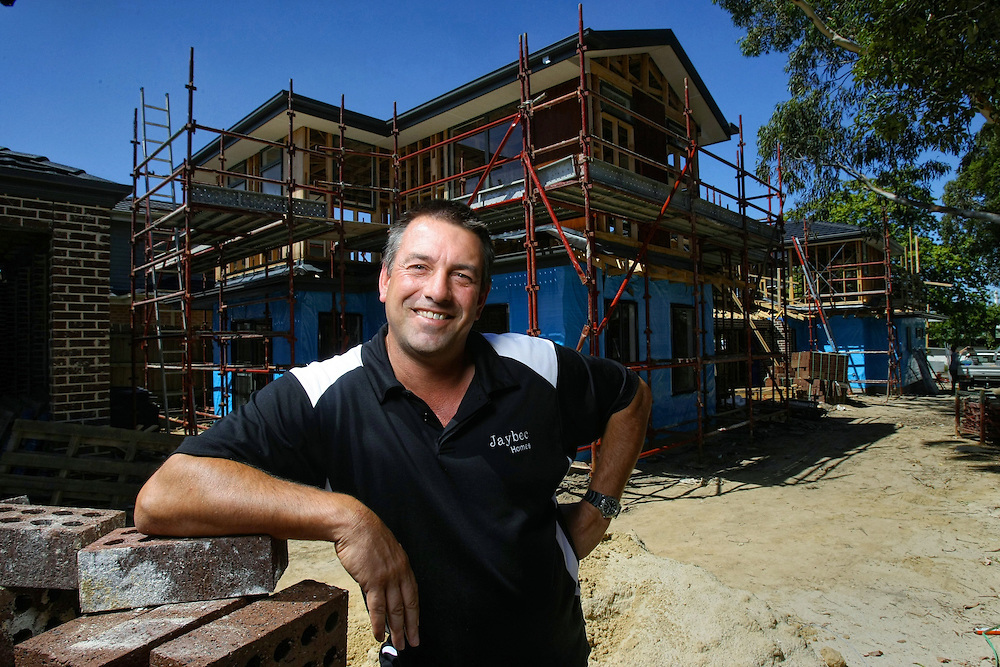 Property Developer Troy Harris at his three unit development in Mitcham  27/01/2010 Pic By Craig Sillitoe SPECIAL 000  Pic By Craig Sillitoe CSZ / The Sunday Age melbourne photographers, commercial photographers, industrial photographers, corporate photographer, architectural photographers, This photograph can be used for non commercial uses with attribution. Credit: Craig Sillitoe Photography / http://www.csillitoe.com<br />