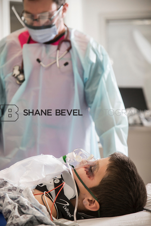 3/11/15 10:26:21 AM --- Staged trauma photos and portraits at the new TEC on the Saint Francis campus. <br /> <br /> Photo by Shane Bevel
