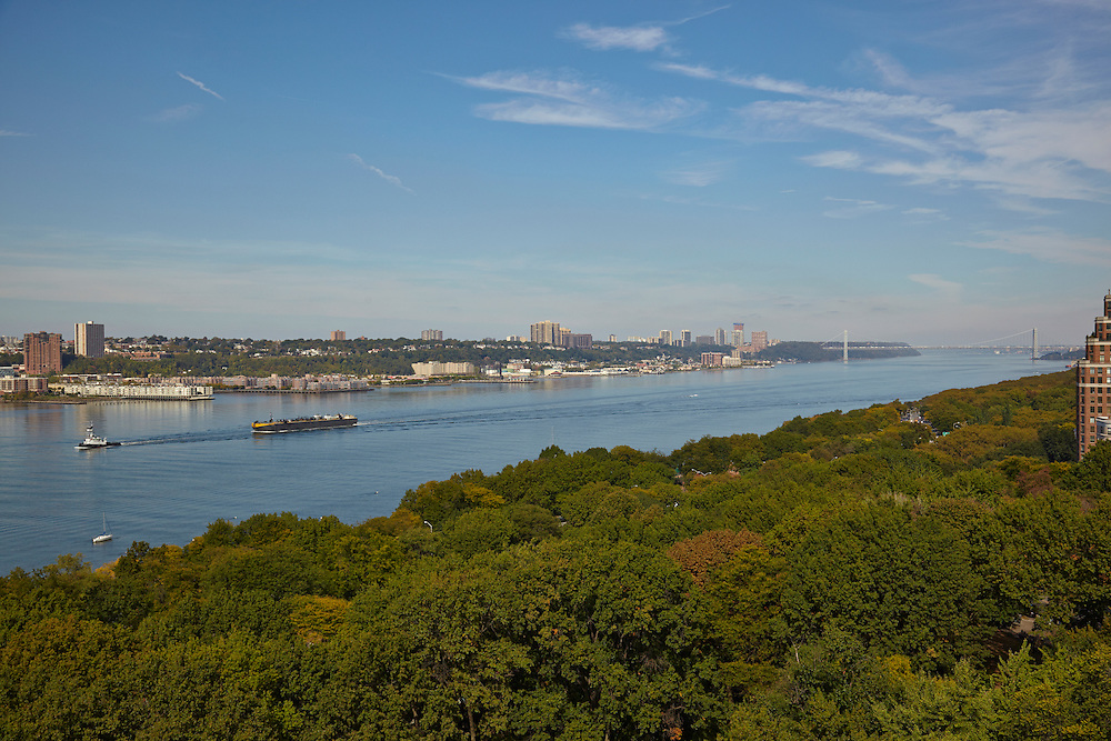 View of the Hudson River from 175 Riverside Drive, 14th floor