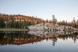 """Five Lakes 5"" - Early morning photograph of one of the Five Lakes in the Tahoe area."
