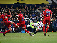 Photo: Mark Stephenson/Richard Lane Photography. <br /> West Bromwich Albion v Colchester United. Coca-Cola Championship. 29/03/2008. <br /> West Brom's Kevin Phillips tries a shot on goal