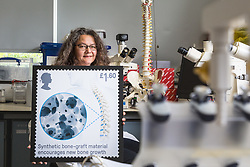 Royal Mail: Dr Karin Hing of the School of Engineering and Materials at Queen Mary University of London. London, April 26 2019.