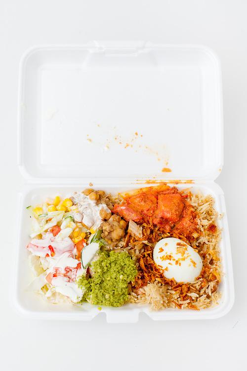 Chicken Biryani from Tariq's Halal Cart ($6.50)