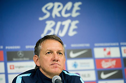 Igor Benedejcic, head coach of Slovenia during press conference of Team Slovenia 1 day before UEFA Nations League match against Norway, on November 15, 2018 in SRC Stozice, Ljubljana, Slovenia. Photo by Vid Ponikvar / Sportida