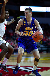 NORMAL, IL - December 31: Spencer Haldeman defended by Keith Fisher III during a college basketball game between the ISU Redbirds and the University of Northern Iowa Panthers on December 31 2019 at Redbird Arena in Normal, IL. (Photo by Alan Look)