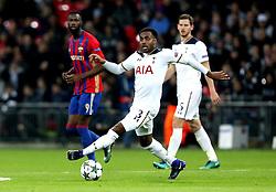 Danny Rose of Tottenham Hotspur runs with the ball - Mandatory by-line: Robbie Stephenson/JMP - 07/12/2016 - FOOTBALL - Wembley Stadium - London, England - Tottenham Hotspur v CSKA Moscow - UEFA Champions League