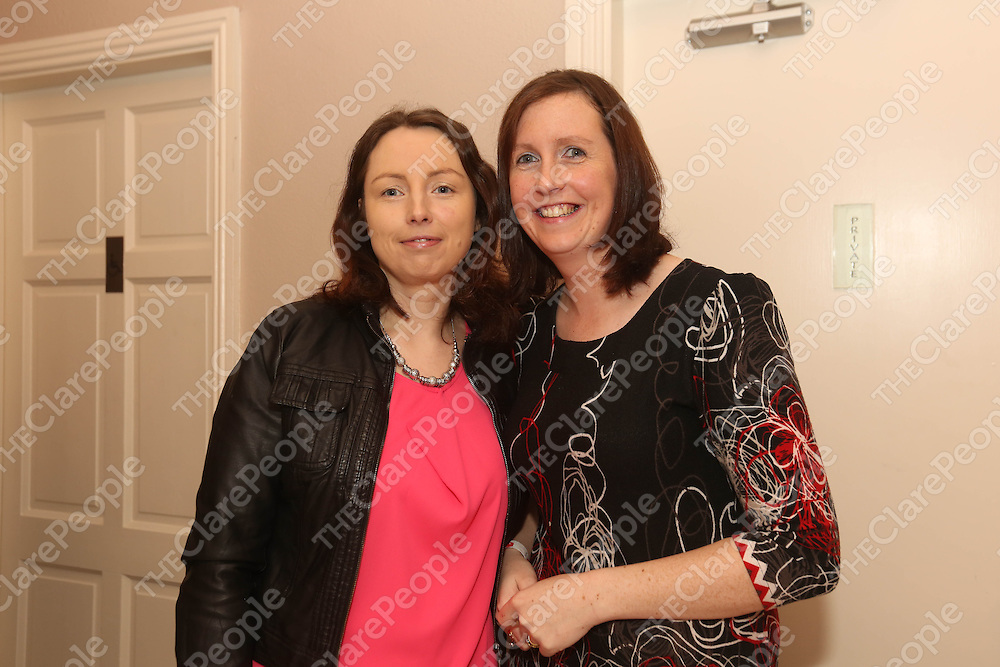 Pamela Moloney and Karen Healy pictured at the Fundraising Boxing Night in the Armada, Spanish Point on Sunday night.<br /> Pic. Brian Arthur/ Press 22.